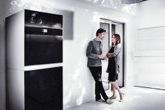 STACIONÁRNA KONDENZAČNÁ CENTRÁLA - výrobca: Buderus, cena: od 4 300 €, www.buderus.sk. Elegantný kondenzačný kotol s atraktívnym dizajnom, ktorému dominuje predný panel z nerozbitného skla, sa hodí aj do obytných priestorov. Logamax plus GB192iT poskytuje vysoký stupeň komfortu prípravy teplej vody s možnosťou voľby 150 alebo 210-litrového vstavaného zásobníka na teplú vodu