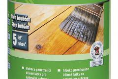 Vodou riediteľný impregnačný základný náter na drevo HORNBACH sa hodí na terasy, štíty, záhradné domčeky, fasády i strešné podhľady; chráni drevo proti modraniu a hubám; čas schnutia je 24 hodín, výdatnosť 4,5 m2/l (HORNBACH)
