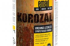KOROZAL EMAIL je vrchná syntetická univerzálna farba s vysokým leskom na univerzálny náter kovových povrchov v exteriéri aj interiéri. Je vhodný aj na obnovu starších a čiastočne skorodovaných kovov (SLOVLAK)