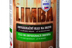 Impregnačný olej na drevo na báze ľanového oleja LIMBA je určený na úpravu dreva v interiéri aj exteriéri. Vďaka použitému vosku sa vyznačuje veľmi dobrou odolnosťou voči poveternostným vplyvom a odolnosťou voči vode, špeciálne pigmenty znižujú vplyv UV žiarenia (SLOVLAK)