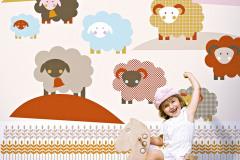 Obrazová tapeta Sheep, 0,53 x 10,05 m, Lavmi, cena 51,40 eur, www.lavmi.sk