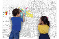XXL maľovanky Play je možné použiť ako tapetu, obrus či plagát, 115 × 80 cm, cena 20 eur, www.bonami.sk