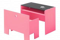 Stolík s lavicou Wonderbox sa vyrába v 4 farbách, stôl, 70 × 35 × 50 cm, lavica má výšku sedadla 30 cm, cena 499,20 eur, www.space4kids.cz