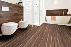Vinylová dlážka Vereg so vzorom orech sa vyznačuje perfektným vzhľadom na nerozoznanie od prírodného dreva. Kvalitný odolný povrch je zušľachtený polyuretánom, hodí sa aj do vlhkých miestností vrátane kúpeľní. V predajniach Hornbach ju kúpite za 21,95 € / m²