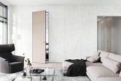 Dvere MASTER DOOR lakované, pieskované sklo, skrytá zárubňa AKTIVE (zdroj: J.A.P. Slovakia)