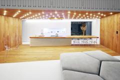 Významným architektonickým prvkom a šperkom domu, tak z hľadiska funkčného, ako aj estetického, je osvetlenie. Prináša nielen dostatok svetla v žiadanom množstve a intenzite, ale aj emócie. V celom interiéri ide o autorské riešenie, všetky svietidlá navrhli a vyrobili na mieru