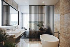 Dekor s pravidelnými pruhmi predstavuje jednoduchý spôsob, ako spojiť eleganciu a originalitu; dvere Idealine (JAP FUTURE)