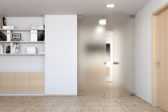 Satinované priesvitné sklo predstavuje dokonalé vyváženie potrieb a výhod – svetlo, ľahkosť, ľahká údržba; dvere Sapglass Satináto (SAPELI)