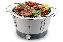 Kompaktný power gril PARTY TIME s reguláciou teploty a nádobou na stekanie tuku s možným doplnaňím uhlia (TESCOMA)