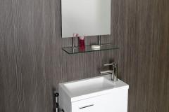 Rozmery kúpeľňového nábytku Latus umožňujú inštaláciu aj do menších priestorov, obzvlášť na toalety, www.sapho-kupelne.sk