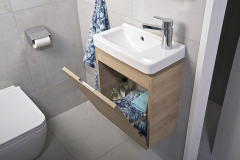 Umývadlá asymetrického tvaru zapadnú aj do tej najmenšej kúpeľne, www.jika.sk