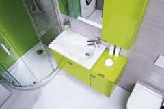 Rad Jika TIGO ponúka premyslený kúpeľňový nábytok, umývadlá a ďalšie vybavenie do malých a úzkych kúpeľní. Dômyselne navrhnutá séria šetrí každý drahocenný centimeter a prináša nevšedné dizajnové riešenia. Skrinky si môžete zvoliť vo farbách creme, biela, creme/biela alebo vo výraznejších odtieňoch mokka a sviežej zelene, www.jika.sk