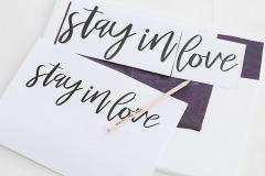 2. V počítači napíšte vybraný text a vytlačte. Použite font štetcového písma, napríklad font Mellony. Text prepíšte cez kopírovací papier na plátno