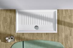 Keramická sprchová vanička Verso, špeciálna protišmyková úprava, 140 × 80 cm, Catalano, www.kvalitnytovar.sk