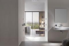 Sprchová vanička FloorSide,smaltovaná titanová oceľ, 150 × 90 cm,Bette, www.mybath.sk