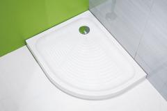 Asymetrická sprchová vanička Tigo, vhodná pre malé kúpeľne, keramika, protišmyková úprava Antislip, dlhá životnosť, 100 × 80 cm, Jika, www.jika.sk