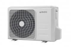 Klimatizácia AIR26 (AIR35, AIR53) s ekologickým chladivom R32 sa skladá z vonkajšej invertorovej jednotky a vnútornej jednotky s riadením smeru prúdenia vzduchu diaľkovým ovládaním, vďaka ktorému nie sú ľudia obťažovaní priamym prúdom chladného vzduchu (DZ Dražice)