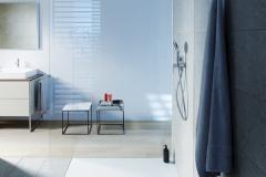 Sprchová vanička radu tempano je dokonale zladená s modernými kúpeľňami a ponúka flexibilitu pre inštaláciu, či už si vyberiete montáž na dlážku, úplne alebo polozapustenú montáž (DURAVIT)