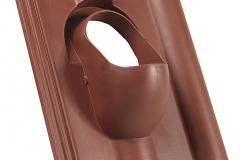 PRESTUPOVÁ ŠKRIDLA - výrobca: HPI, www.hpishop.sk. Základná prestupová škridla plastová na betónovú krytinu, priemer 100 mm