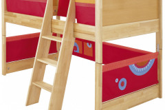 Dizajnová posteľ nemeckej firmy Haba s priestorom na hranie z kvalitného bukového masívu sa pridaním striešky zmení na domček, cena 1 117,23 eur, www.babymall.sk