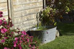 Vodným prvkom sa môže stať pokojne aj hliníková vaňa
