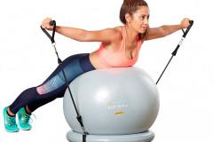 Kompletná súprava posilňovacieho systému Bundle určená na domáce fitnes od výrobcu Mantra Sports, v ponuke na výber z veľkostí 65 alebo 75 cm, z dvoch farebných variantov, www.mantrasports.com